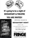 YOU ARE INVITED! DEVIANT ART NIGHT  FREE by TOMCAVANAUGH