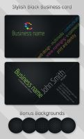 Stylish Black Business Card by khatrijiya
