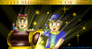 Opening Happiness (75th submission of 2016) by BlueMario1016
