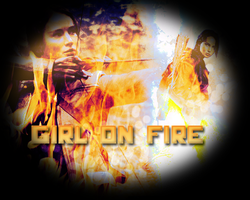 Girl on fire by Timexturner