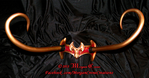 Red, Gold and Black Horned Diadem View #4 by MorganCrone