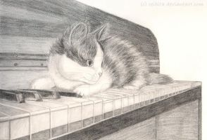 Kitten on the Keys by Ceibita