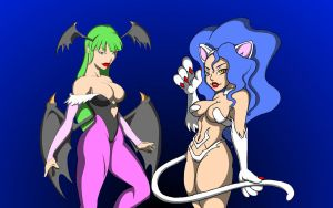 Darkstalkers Wallpaper by dinohunterx