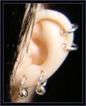 Earrings I by Zimbl