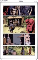 Hellboy page color by SpicerColor