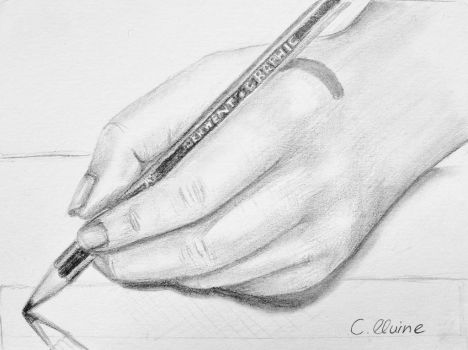 Drawing of my hand drawing by christina-0o