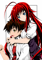Rias and Issei from High School DxD by fatalgod23