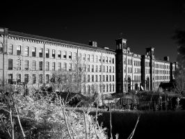 Salts Mill - Saltaire (infrared) by GaryTaffinder