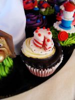 cake on a cupcake by I-am-Ginger-Pops