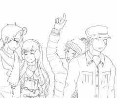 APH- Winter Double Date (Lineart) by SmartasticalArt