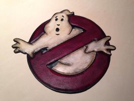 Large leather GhostBuster patch by Skinz-N-Hydez