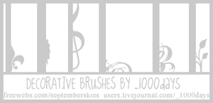 Decorative Icon Brushes by clayla919