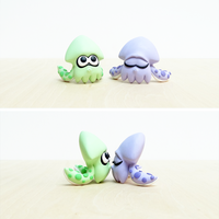 Splatoon Squid Commission Handmade Polymer Clay by lyrese