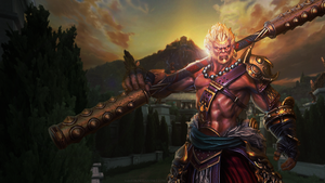 Smite - Sun Wukong Wallpaper by Equilib