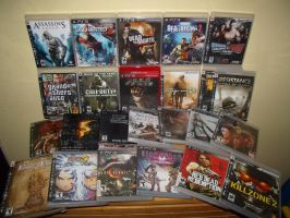 My PS3 Videogames by redfield37
