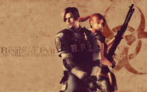 Leon S. Kennedy and Claire Redfield by mercscilla
