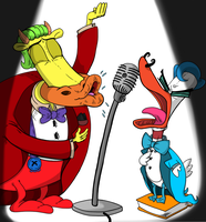 Request heffer and le Quack Singing Cordonbla by sixteen6stars