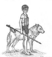 Native American Indian Boy by crittercat
