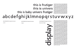 Baby Univers Frutiger by MysticNeonGLow
