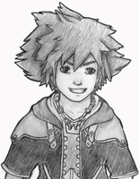 Sora Sketch by SoulDeku