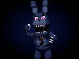 Aventure Nightmare Bonnie by GaboCOart