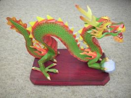 Chinese dragon papercraft by Master-Kankuro