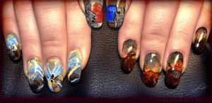 Diablo 3 tribute Nail Art by Undomiele