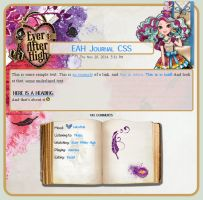 Maddie Hatter Journal CSS by A-queenoffairys