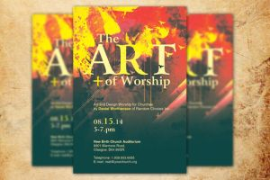The Art of Worship Church Flyer Template by loswl