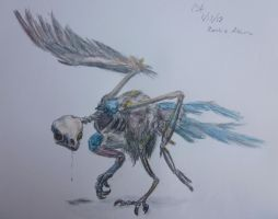 Altaria zombie by AzureGryphon