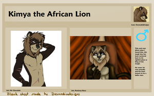Kimya the African Lion Reference by PandaTJ