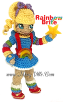 Rainbow Bright - Crochet Doll by MissyBaque