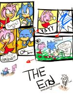 Sonic n Amy but Gum Glab him by Omiza-Zu