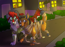 Trick or Treating Colab by BananaFlavoredShroom