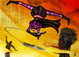 Hit Girl by MauroIllustrator