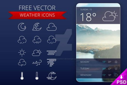 Weather Icons UI by thislooksgreat