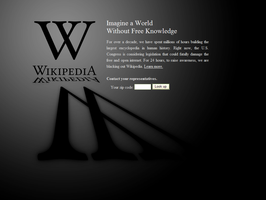We support the Wikipedia SOPA, PIPA black out! by Dead-Genre-Revival