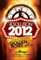Resolution 2012 Flyer by rjartwork
