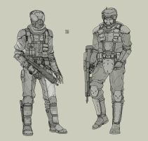 Militia - Infantry - Space Vagabonds by Hideyoshi