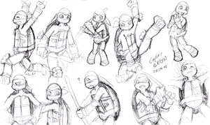 TMNTSketch~Part2 by Captain--Ruffy