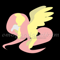 Minimalistic Fluttershy and Angelbunny by RhythmGeneration