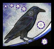 Common Raven as Totem by Ravenari