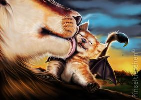 The little windrider manticore baby by Pinseltierchen