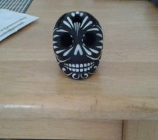 clay sugar skull by lizzyj2217