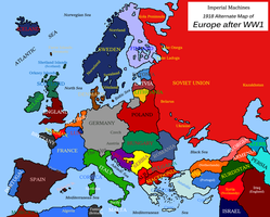 Blank map of Europe 1918 (IM, Outdated) by EricVonSchweetz