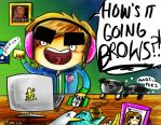 Pewds and The BROW army by KorpseBride
