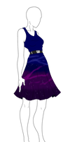 Outfit Adopt - Galaxy Dress - SOLD by ShadowInkAdopts