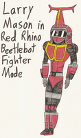Larry Mason in Red Rhino Beetlebot Fighter Mode by Magic-Kristina-KW