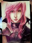 Watercolor - Lightning by Andrewsblood