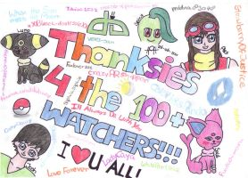 Thanksies for the 100 watchers by xela1234